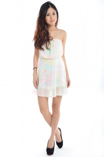 Paddlepop Watercolour Tube Dress