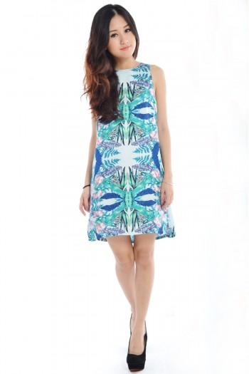 Tropical A-Line Dress