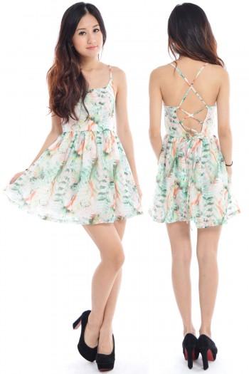 Criss-Cross Tropical Back Dress