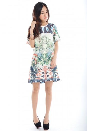 Zara Inspired Tropical Dress