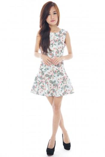 Tropic Trumpet Flare Dress
