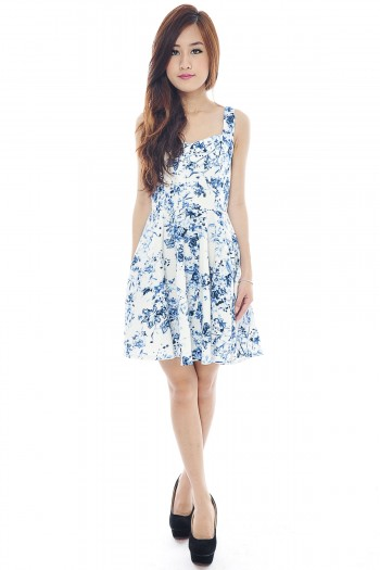 Porcelain Skater Dress