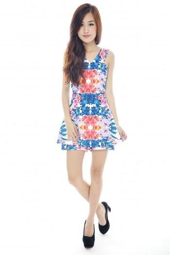 *Premium* Floral Skirt Romper