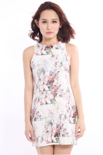 Floral Prism Shift Dress