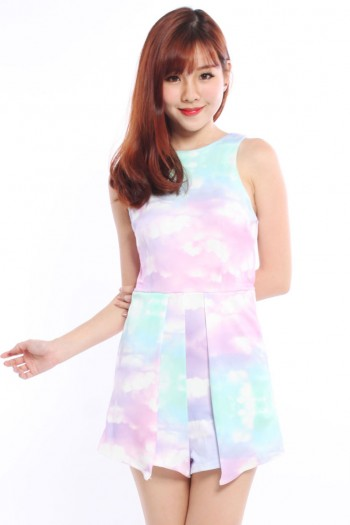 Abstract Watercolour Romper