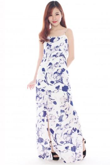 Floral Slit Maxi Dress