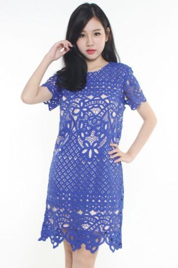 *Premium* Crochet Shift Dress