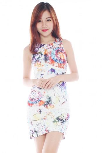*Premium* Abstract Print Bodycon Dress