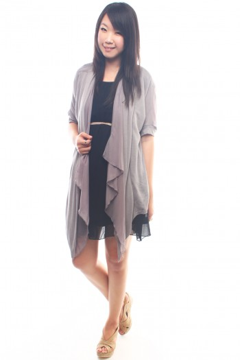Draped Long Cardigan