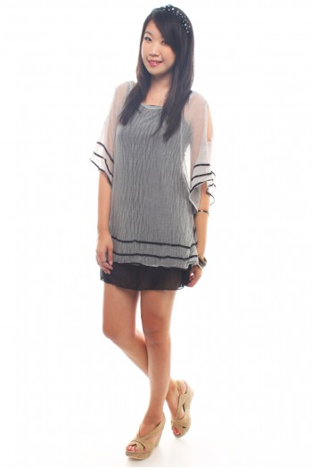 Cut-Out Overlay Tunic
