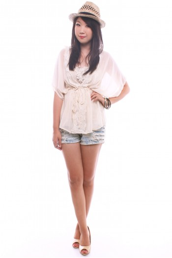 2-pc Chiffon Lace Top