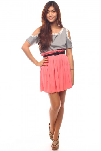Pleated Paperbag Skirt