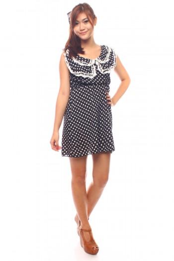 Peterpan Lace Polkadot Dress