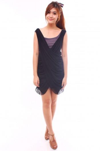Criss-Cross Drape Dress
