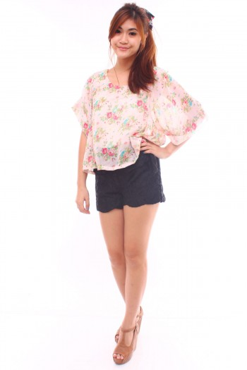 Chiffon Floral Crop Top