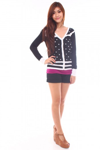 Heart Printed Cardigan