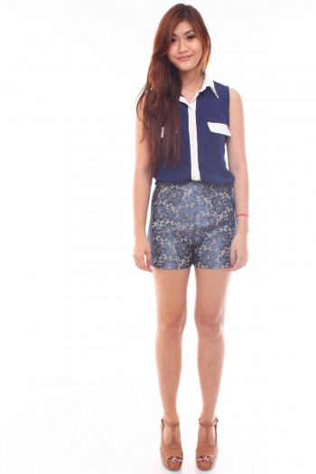 Lace Embroidery Shorts