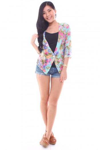 Floral Chiffon Jacket