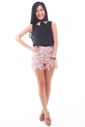 Floral High Waist Shorts