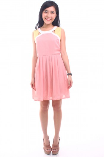 Pastel Cut-Out Dress