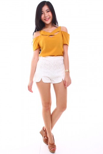 Slit Lace Shorts
