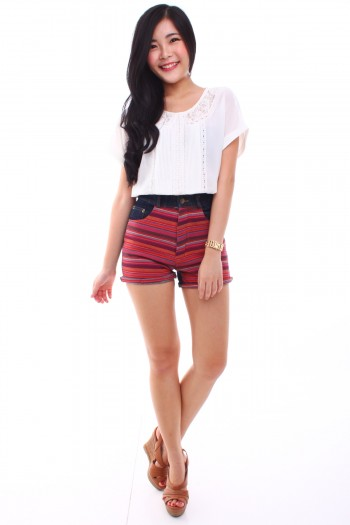 Tribal High Waist Shorts
