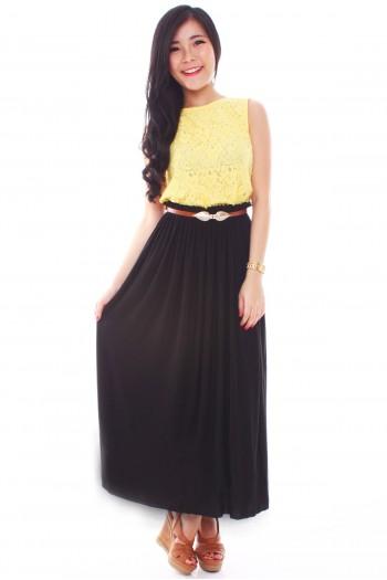 Paperbag Waist Maxi Skirt