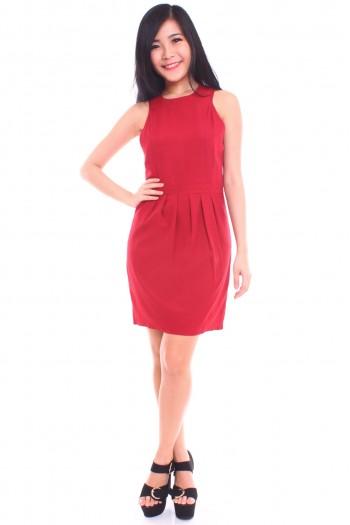 Cut-In Pleated Dress